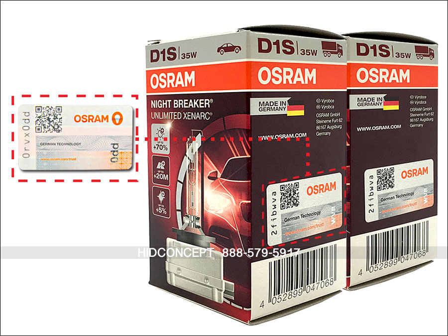 2x new genuine d1s osram xenarc night breaker unlimited. Black Bedroom Furniture Sets. Home Design Ideas