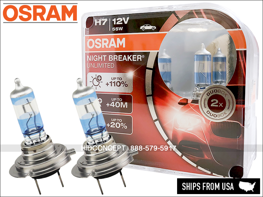 h7 osram night breaker unlimited dot 110 performance. Black Bedroom Furniture Sets. Home Design Ideas