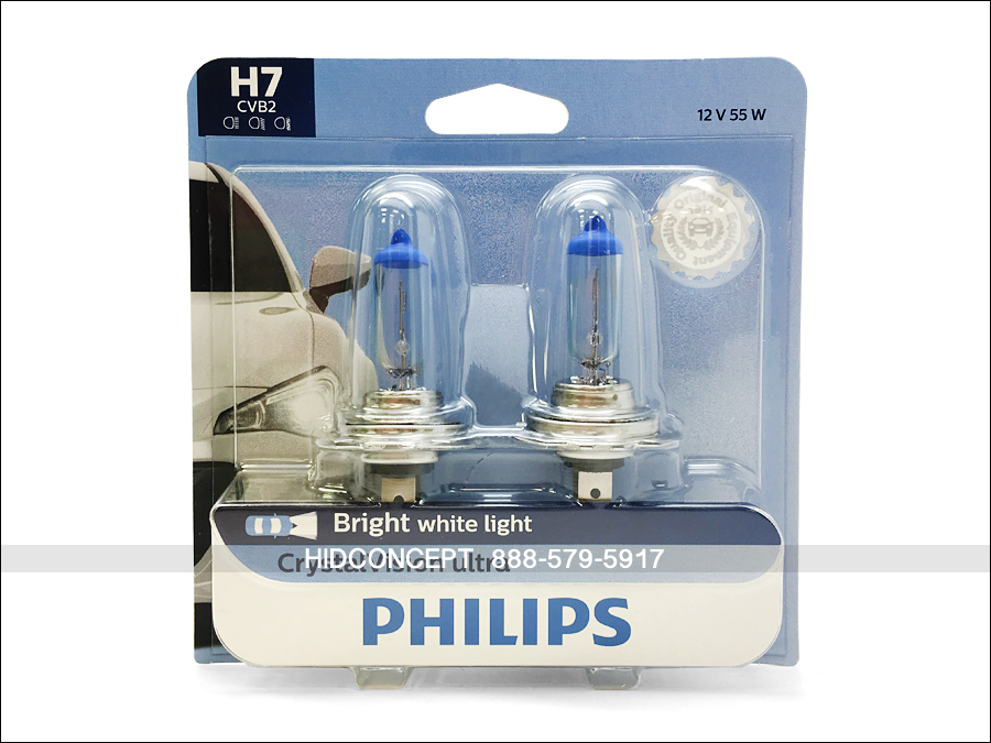 New Philips Crystal Vision Ultra H7 Xenon Hid Look